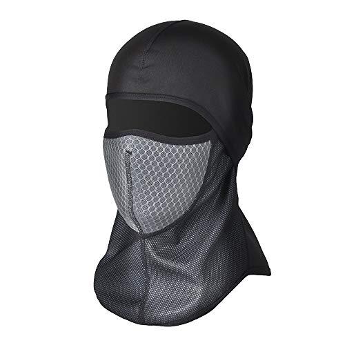 Bequeme und atmungsaktive Fahrradmaske Warmes Vollgesichtsmasken-Cover, Winter-Fleece-Halswärmer, winddicht, passender Helm für Erwachsene - elastische Größe Universal (schwarz) Reiten unerlässlich