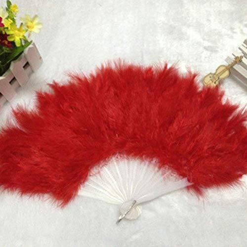 Tanz Kostüm Showgirl - Federfächer, Kostüm Federfächer Hochzeit Showgirl Elegant Tanz - Rot, Free Size