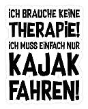 shirt-o-magic Aufkleber Kajakfahren: Therapie? Kajak! - Sticker -Einheitsgröße-Weiß