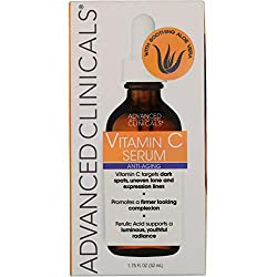 Advanced Clinicals Vitamin C Anti-aging Serum for Dark Spots, Uneven Skin Tone, Crows Feet and Expression Lines. 1.75 Fl Oz. by Advanced Clinicals