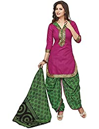 Baalar Women's Cotton Unstitched Dress Material (214_Multicolor_Free Size By Onkar Trading)
