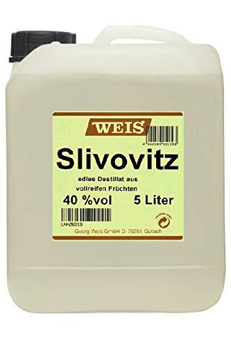 Elztalbrennerei Georg Weis Slivovitz 40{818037b0307dc7695aab51225feb24d230f67a8188facd7f45f5c04d35f69b6c} 5,0 Liter Kanister