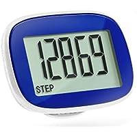 Schrittzähler, Pedometer von MyTrackz mit Uhr, Stepcounter, Kalorienzähler, Kilometerzähler, Einfache Bedienung, Gürtelclip, Schrittmesser, Step Counter Günstig Bestellen