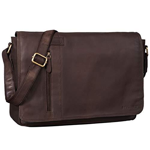 22898faf48de0 STILORD  Nicolas  Messenger Bag Laptoptasche Leder Große Umhängetasche 15