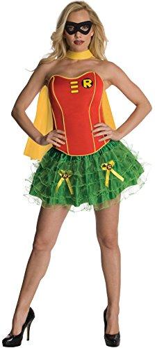 Damen/Robin/Batgirl Korsett Erwachsene Kostüm–Kleine (Funny Halloween-kostüme-superhelden)