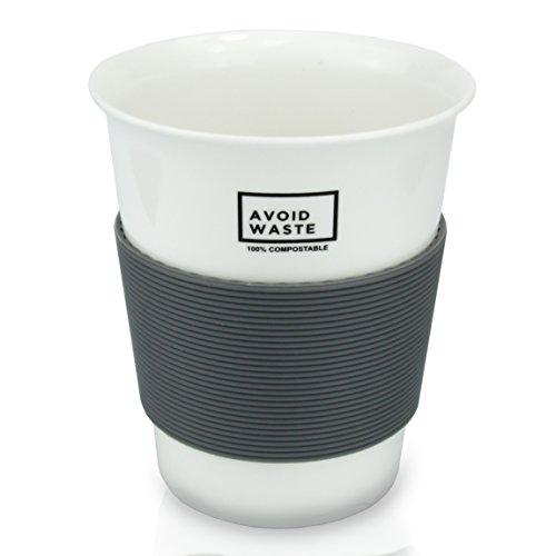 avoid waste - ECO Kaffeebecher to go, kompostierbar. Becher to go aus pflanzlichem Material (PLA). BPA frei und umweltfreundlich. - 3
