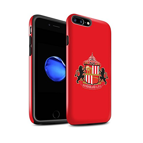 Offiziell Sunderland AFC Hülle / Glanz Harten Stoßfest Case für Apple iPhone 8 Plus / Rot Muster / SAFC Fußball Crest Kollektion Rot