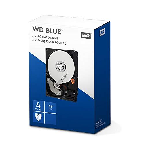 WD Blue 4 TB Interne Festplatte (8,89 cm (3,5 Zoll) 5400 U/min, SATA, 6 Gb/s, 64 MB Cache) (Retail Kit) -