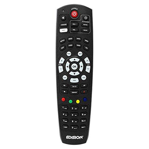 Edision 07–00–0051telecomando universale nel blister per ricevitore nero