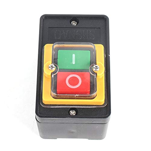 DERNON Switch with Self-Locking Start-Stop Seizure Button Waterproof ON/Off Button Black -