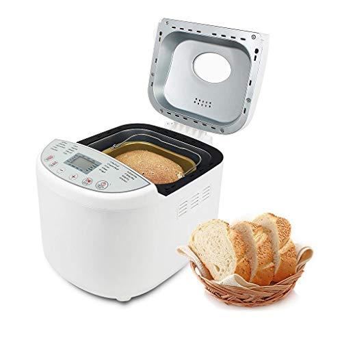 Leogreen Brotbackautomat 19 Programme, automatische Brotbackmaschine für Glutenfreies Brot, Brioche, Marmelade, Kuchen, Brot, 3 einstellbare Bräunungsstufen und 3 Brotgrößen 1.0/1.5/2.0LB