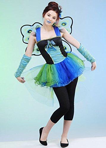 Kostüm Teen Pfau - Magic Box Int. Mädchen und Teens Pfau Diva Kostüm Large (10-12 Years)