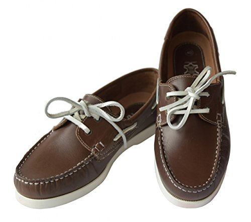 Beverly Originals Chaussures Bateau Cuir Homme Men's Casual Sailor braun