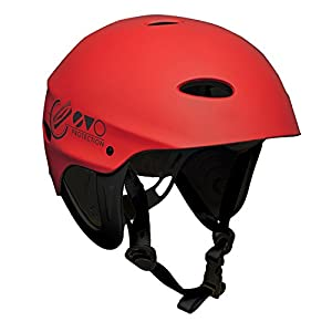 417R99HE%2BhL. SS300  - Gul Evo Watersports Watersports Helmet for Kayaking Kitesurf Windsurf and Dinghy - Red - Unisex - EVA impact protection