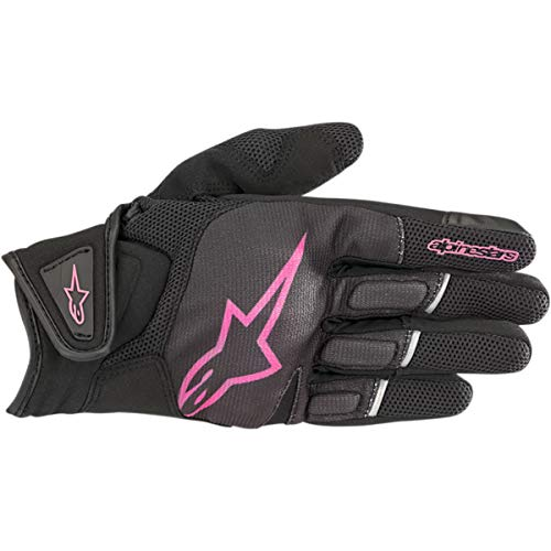 Alpinestars Motorradhandschuhe Stella Atom Gloves Black Fuchsia, Schwarz/Fuchsia, M