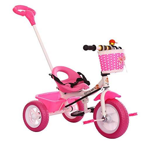 BESTSOON-TGT Trike per Bambini Triciclo per Bambini Tri-Tric 7-in-1 con Impugnatura a Spinta/Frizione Ruota/Sedile Girevole e reclinabile per i Bambini Che dormono Misura da 6 Mesi a 6 Anni