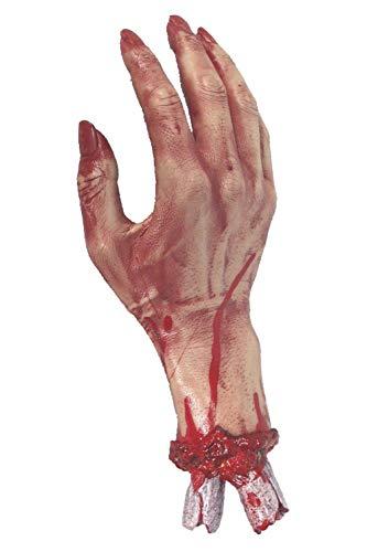 Abgehackte blutige Hand 30cm/12Zoll, One Size