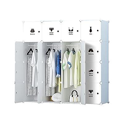 ETTBJA DIY Portable Wardrobe Modular Clothes Storage Organizer Multi-Purpose Storage Unit With Stickers