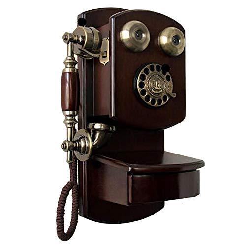 Purplert Teléfono Pared Vintage - Dial Giratorio