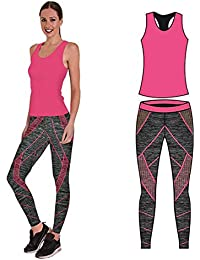 Bonjour - Vêtements de sport pour femmes   ensemble veste   gilet et top    legging e009e91e33f