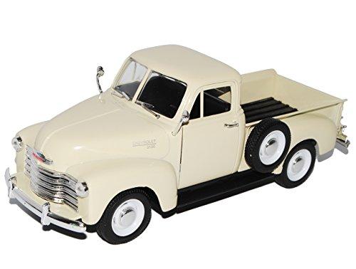 Welly Chevrolet Chevy 3100 Pickup Creme Weiss 1953 1/24 Modell Auto mit individiuellem Wunschkennzeichen