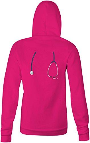 Arzt Doktor mit Stetoskop ★ Confortable veste pour femmes ★ imprimé de haute qualité et slogan amusant ★ Le cadeau parfait en toute occasion pink