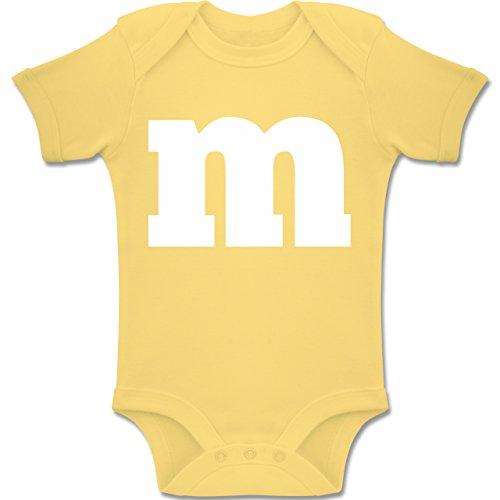 M&m Kostüme Gruppe (Strampler Motive - Gruppen-Kostüm m Aufdruck - 12-18 Monate - Hellgelb - BZ10 - Baby Body kurzarm Jungen)