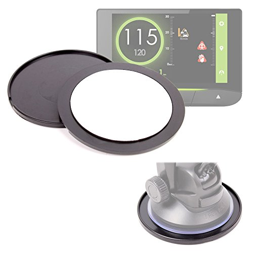 DURAGADGET Pack de 2 Discos Adhesivos para GPS Coyote Mini/S / Nav - Perfectos para Mantener Su Soporte En El Salpicadero De Su Vehículo