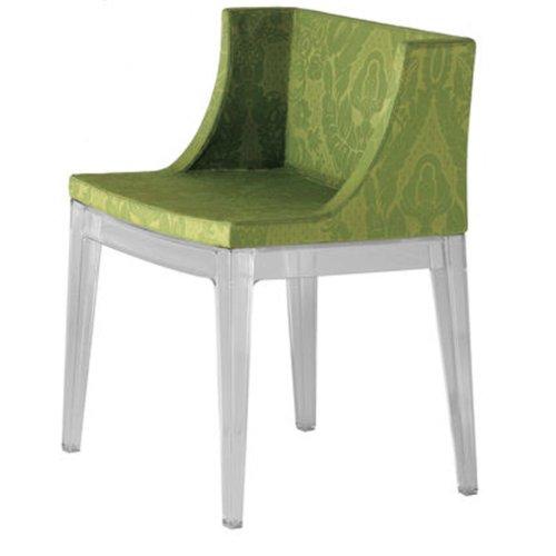 Kartell 4895DV Stuhl Mademoiselle damast, grün