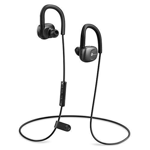 Cuffie Bluetooth, TaoTronics Auricolari Wireless Stereo Sport Compatibili con Siri, S Voice (aptX, IPX5, Bluetooth 4.1, CVC6.0) - Nero