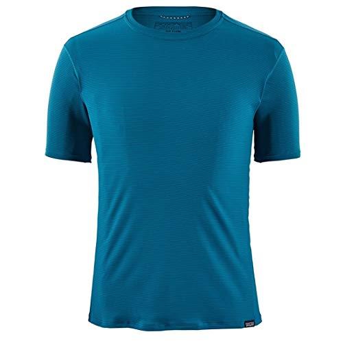Capilene Shirt Für Herren (Patagonia Herren M's Cap Cool Lightweight Shirt Hemd, Blau (Balkan Blue), L)