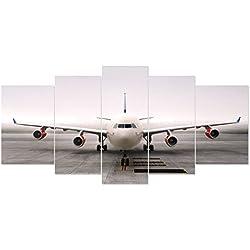 RAIN QUEEN 199X90cm XXL HD Impression Sur Toile Grand Format Grand Avion 5 Parties Décoration Chambre Wall Art Poster