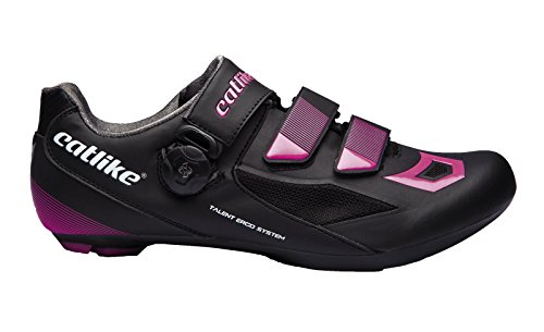 CATLIKE Talent Road 2016, Zapatillas de Ciclismo de Carretera Unisex Adulto, (Negro/Rosa 000), 38 EU