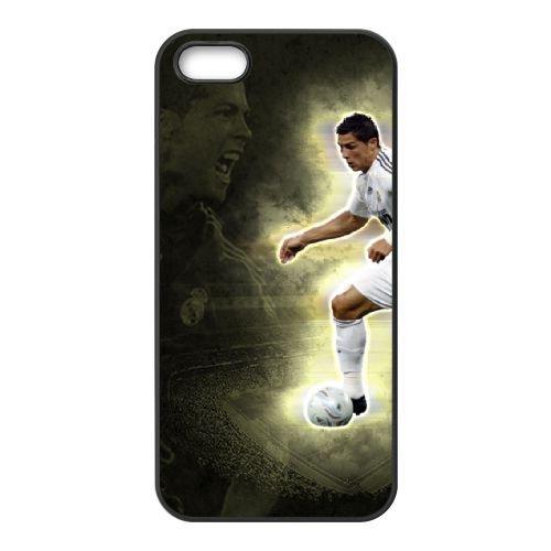 Cristiano Ronaldo coque iPhone 5 5S Housse téléphone Noir de couverture de cas coque EBDXJKNBO16252