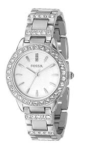 Reloj Fossil ES2362 de cuarzo para mujer con correa de acero inoxidable, color plateado de Fossil