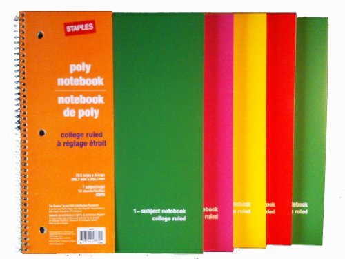 staples-poly-cover-wirebound-notebook-college-ruled-8-x-10-1-2-assorted-colors-by-staples