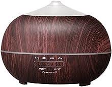 Humidificador Aromaterapia Ultrasónico de Tenswall 400ml Difusor de Aceite Esencial, Vapor Frío 7-color de luz, Belleza aplicar SPA, Yoga, Dormitorio, Sala, Sala de Conferencias