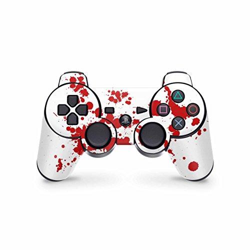 Skins4u Controller Skin Designfolie Aufkleber kompatibel mit Playstation 3 PS3 Blood