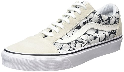 Vans Old Skool, Baskets Basses Mixte Adulte Blanc (Butterfly true white/black)