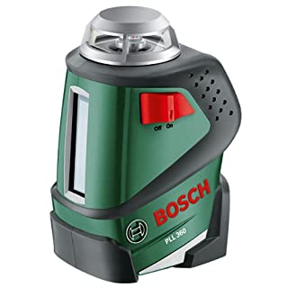 Bosch PLL 360 Cross Line Laser Featuring 360 Degrees Horizontal Function Measuring Tool