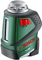 Bosch DIY 360° Linienlaser PLL 360, 4x Batterien AA, Universalhalterung, Tasche (Arbeitsbereich 20 m, +/-0,4 mm/m Messgenauigkeit)