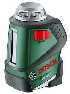 Bosch 0603663000 PLL 360 Livella Laser a 360°, Nero/ Verde