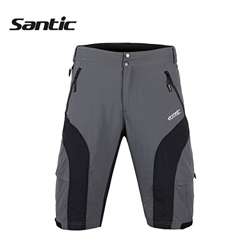 MaMaison007 Santic hombres extraíble multifuncional Casual ciclismo pantalones cortos pantalones de bici con amortiguador 3D -