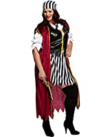 LADIES PLUS SIZE SWASHBUCKLER ADULTS OUTFIT PIRATE WOMENS COSTUME FANCY DRESS