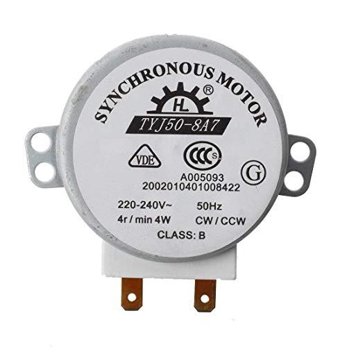 Naisicatar Micro Drehscheibe Motor CW/CCW Mini-Drehscheibe drehen Tabelle Synchronmotor für Mikrowellenherd Durable und Pratical