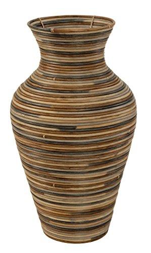 Vase aus Rattan / Bodenvase Rund (2)