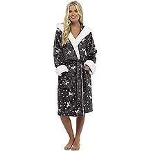 CityComfort Vestido de Lujo de Las señoras Traje súper Suave con Forro de Piel Albornoz Felpa