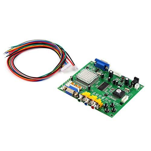 Preisvergleich Produktbild LouiseEvel215 Grün 117 * 100 * 20 mm 5VDC + / - 0, 5 V (2A) Arcade-Spiel RGB / CGA / EGA / YUV zu VGA HD-Videokonverterplatine HD9800 / GBS8200