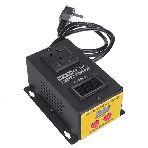 QWERTOUY Strumento AC 220V 4000W SCR elettronico di Tensione della Temperatura del Motore di velocità del Ventilatore Elettrico Regolabile Dimm