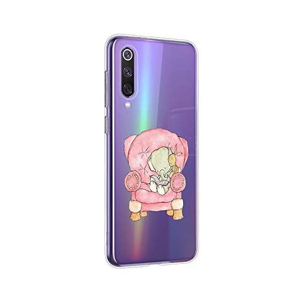 Oihxse Animal Serie Case Compatible con Samsung Galaxy M30s Funda Transparente Suave Silicona Elefante Conejo Patrón… 1